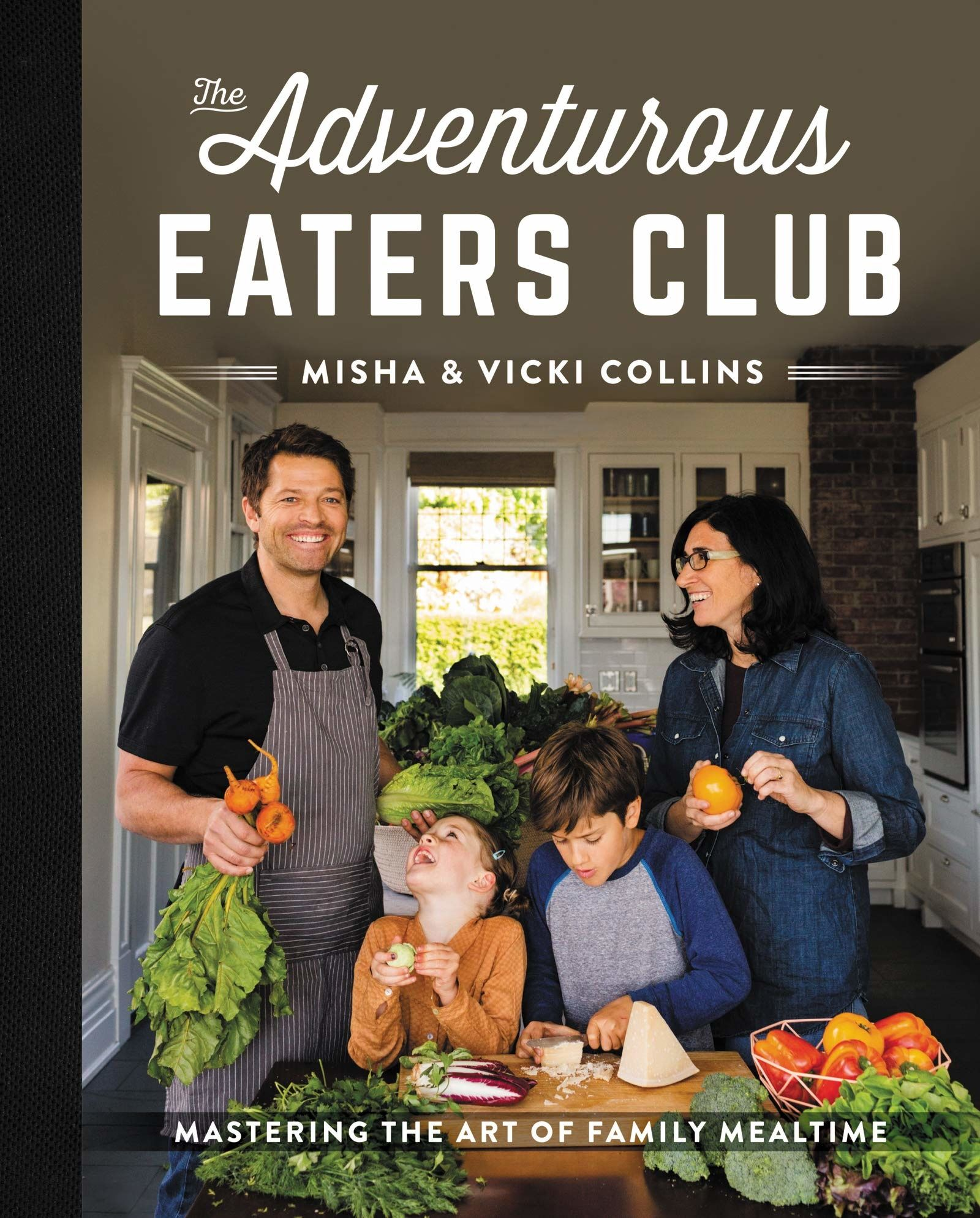 Book jacket of Misha Collins' cookbook.