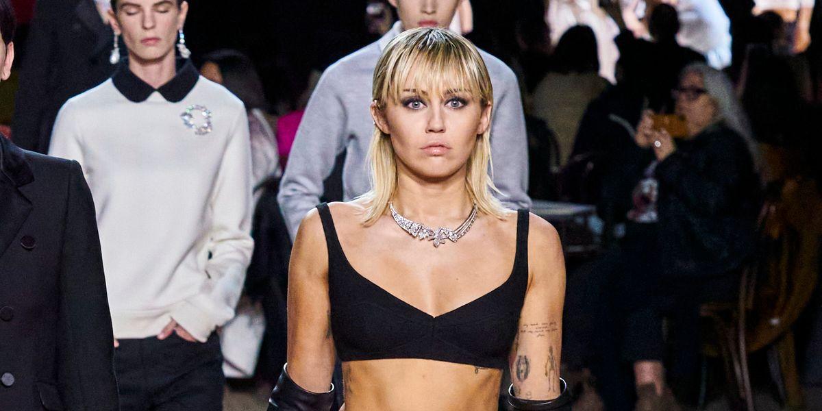 Miley Cyrus Walked at Marc Jacobs in Front of Nicki Minaj