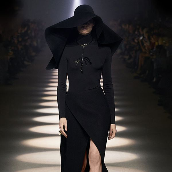 The Big Floppy Hat Goes Dark at Givenchy
