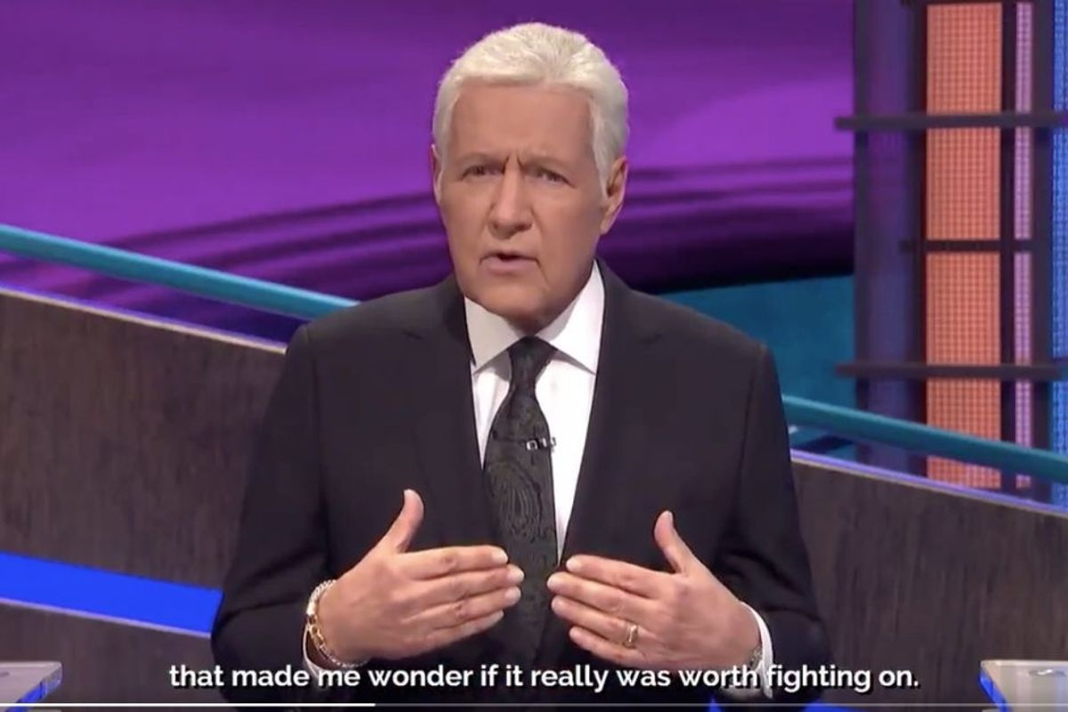 Alex Trebek just gave an inspiring one-year update on his pancreatic cancer journey