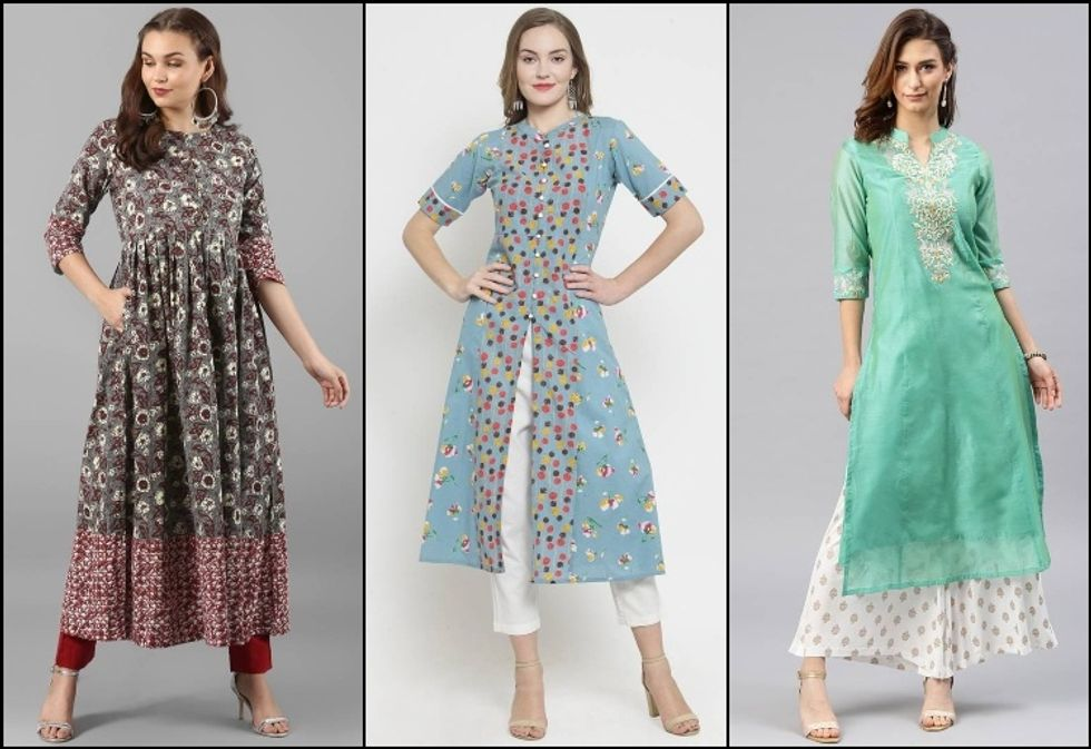 Types Of Kurtis To Nod On According To Your Body Figure!