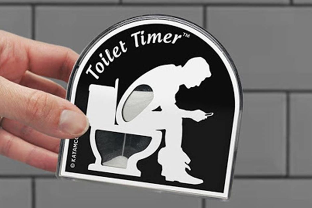 The new daddy 'poo timer' is a funny gift idea, but it calls attention to a real issue
