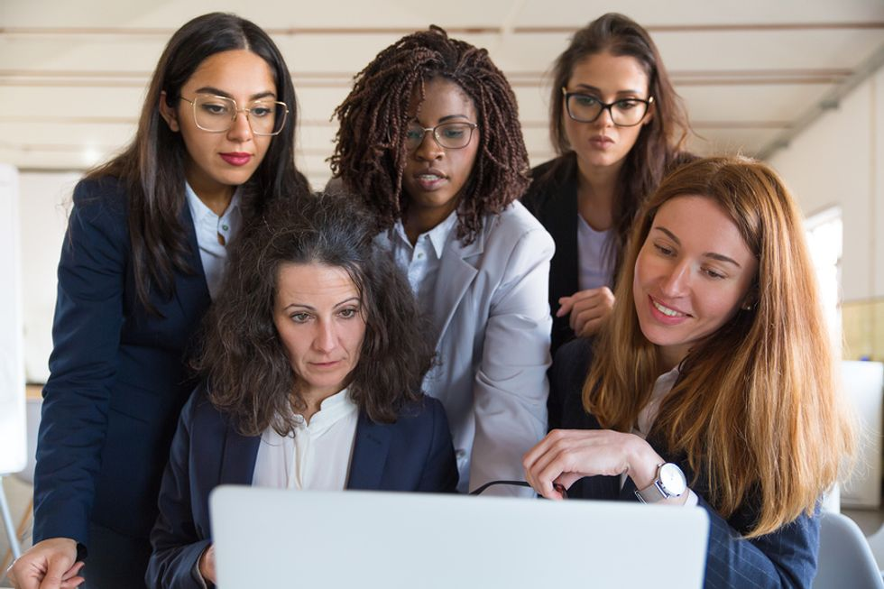Group of women work together to achieve success