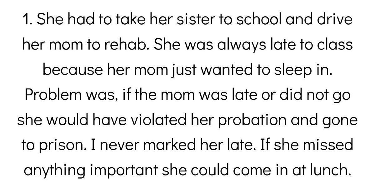 Teachers Share The Best Excuse A Student Has Ever Given For Their Lateness