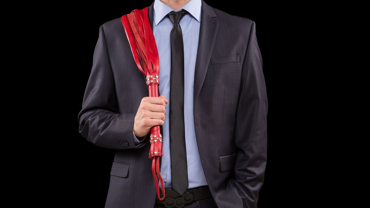 man with whip concept BDSM business dominant