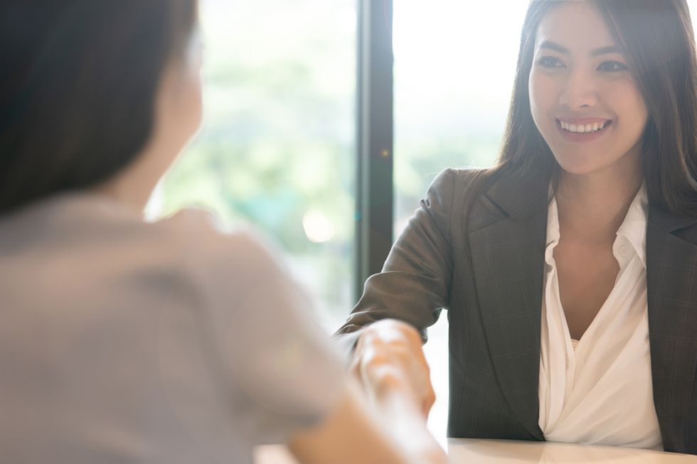 Woman is a cultural fit during the job interview