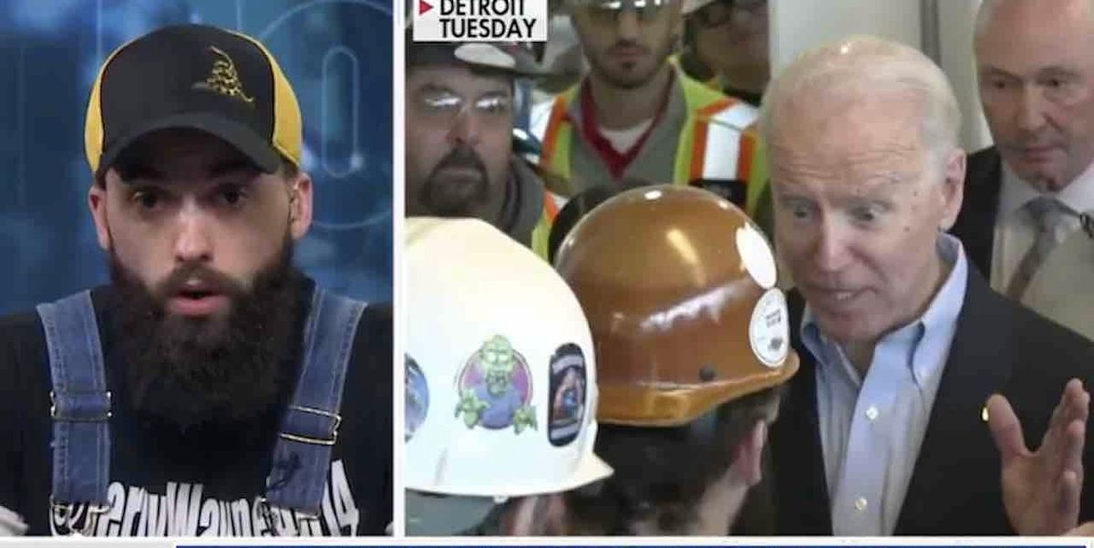Michigan blue-collar worker says Joe Biden 'went off the deep end' in viral confrontation showing presidential candidate cursing at, threatening him