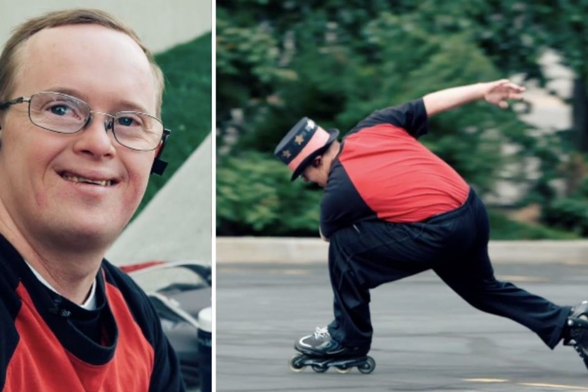 Two film producers made a rollerblading dancer's dream come true, and it's so dang wholesome