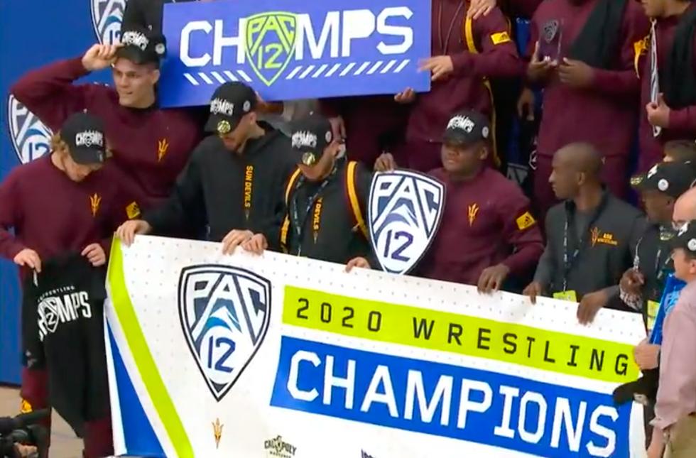 ASU Wrestling Wins 2020 Pac-12 Title