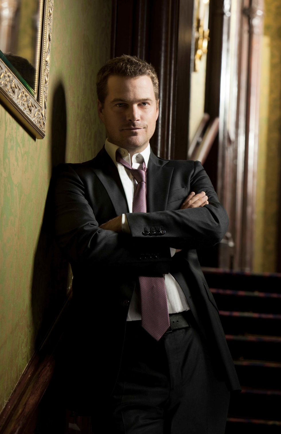 Chris O'Donnell wearing  suit.