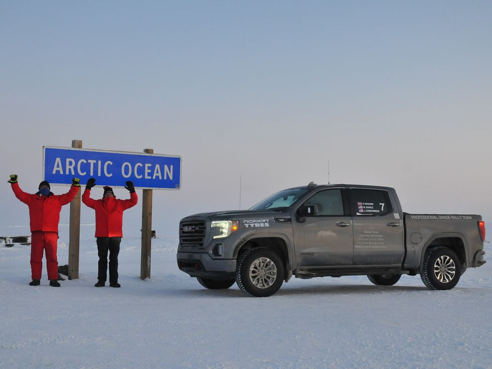 GMC Sierra 1500 AT4 Alcan 5000 rally Alaska Canada Arctic