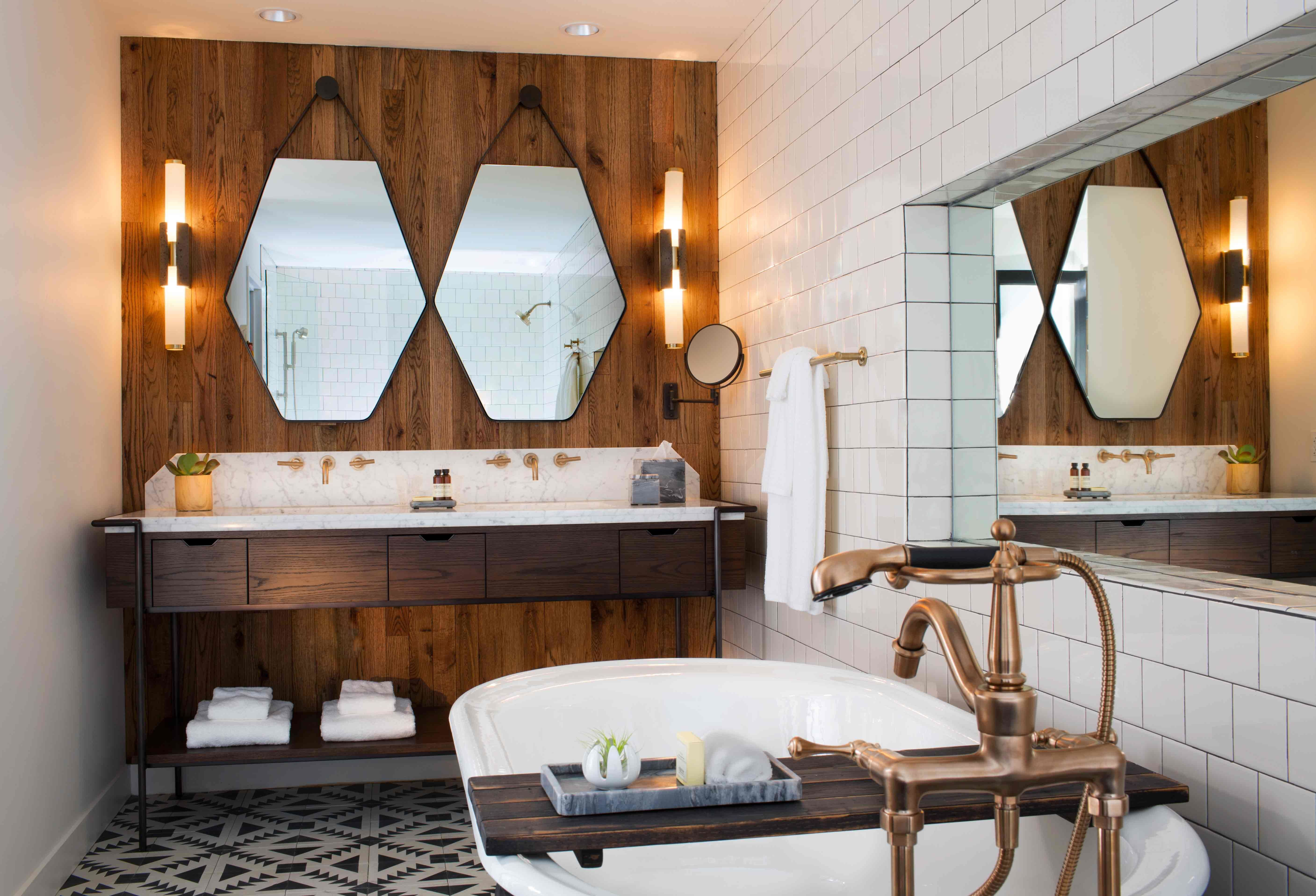 Charming bathroom in a boutique hotel.