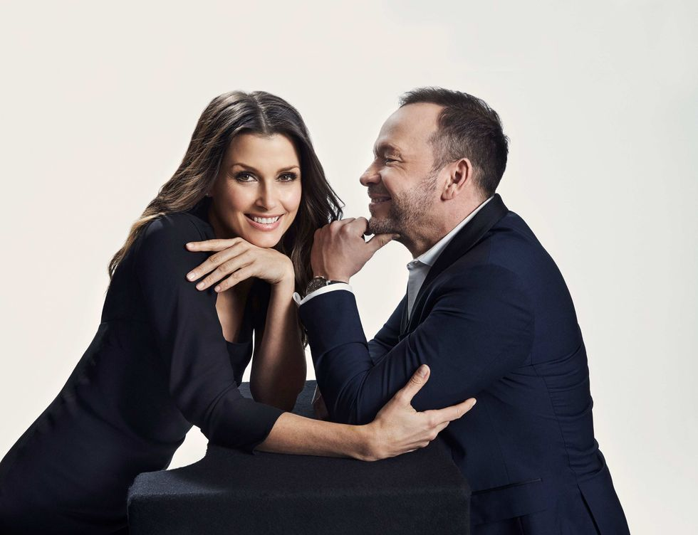 Bridget Moynahan and Donnie Wahlberg of Blue Bloods.
