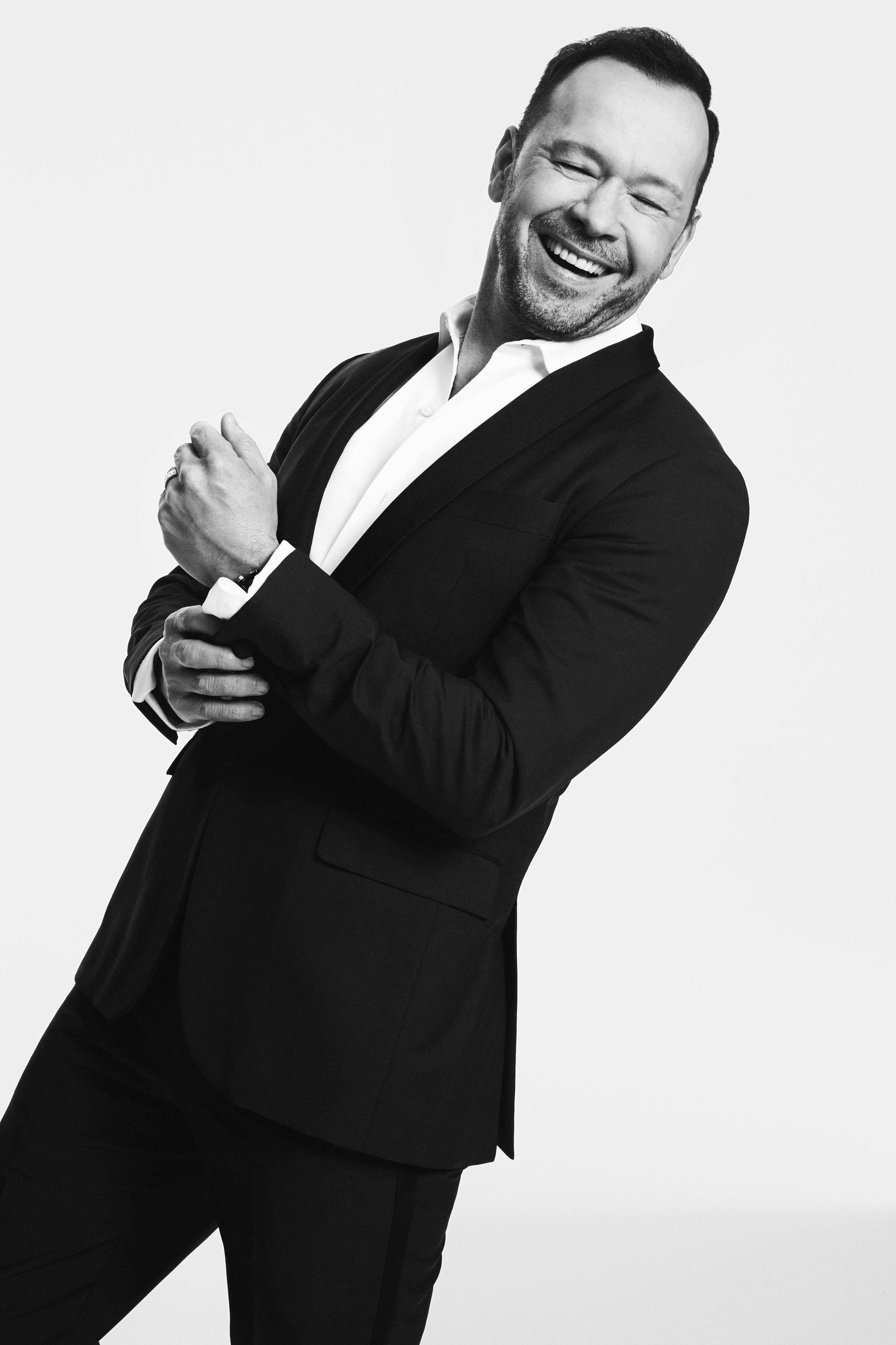 Donnie Wahlberg in a tuxedo.