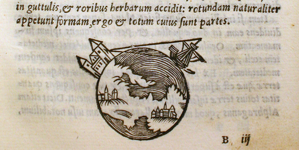 Excerpt from Tractatus de Sphaera ('On the sphere of the world'), published in 1230 AD by Johannes de Sacrobosco