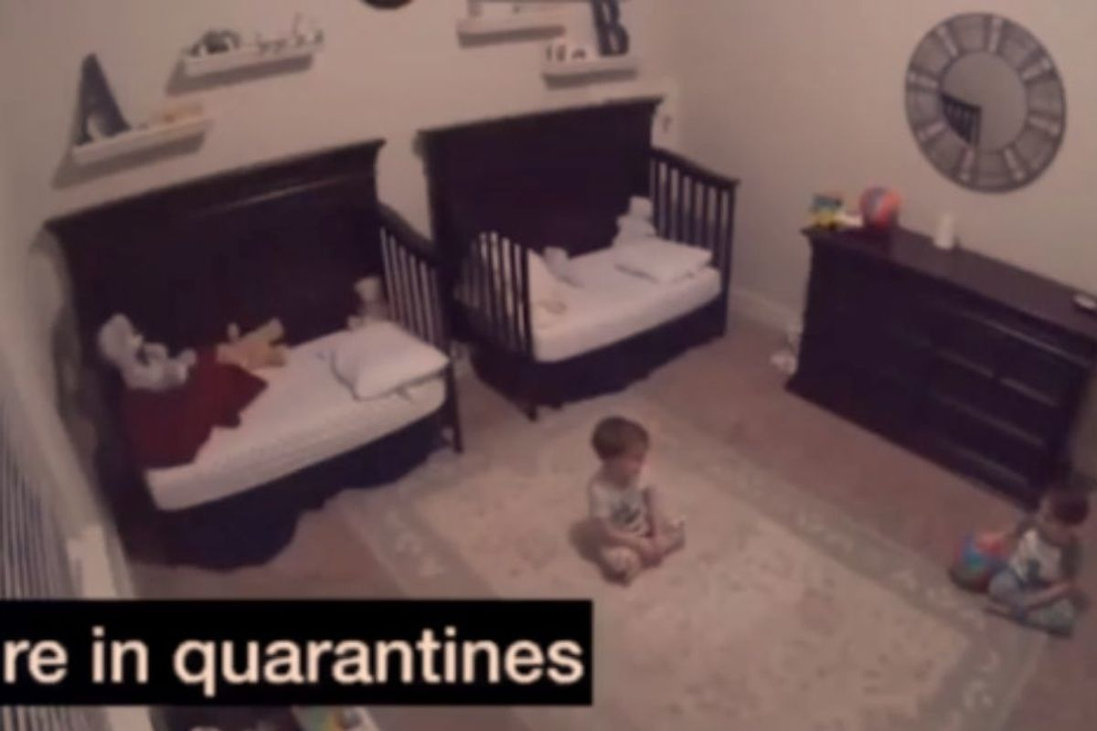 Toddler twins discussing being 'in quarantines' is painfully adorable