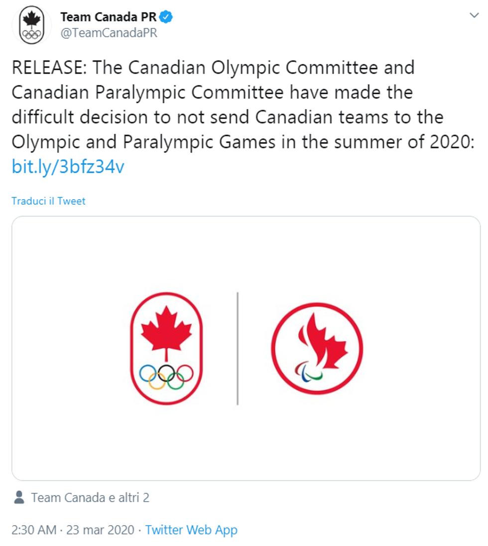 olimpiadi tokyo 2020 rinvio coronavirus