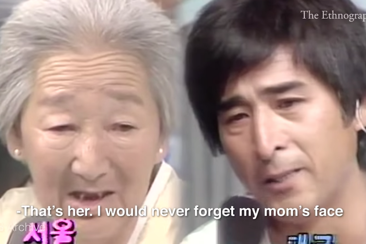 In 1983, a Korean TV station ran a live show reuniting families separated by war. It became a 138-day marathon of hope.