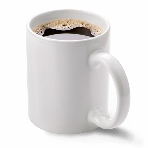 Cup of black coffee.