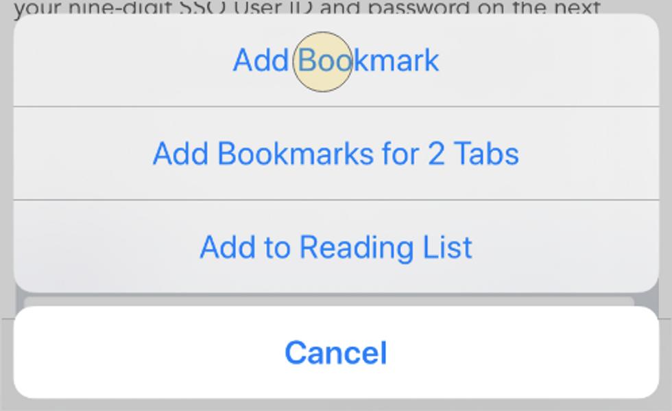 Safari (smart Phone), step 1a