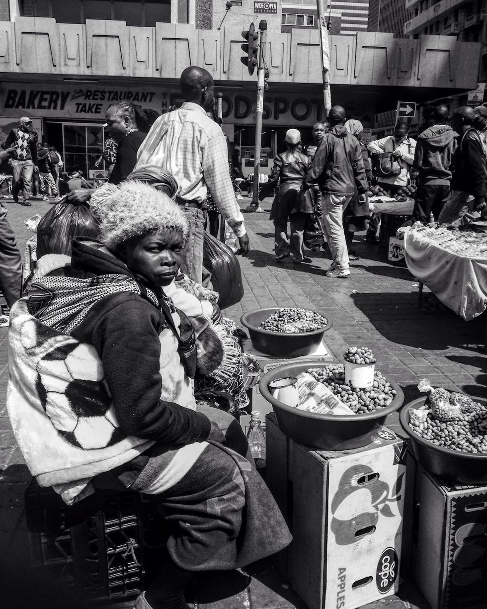 A black queen at Noord Taxi Rank in Joburg in 2015.