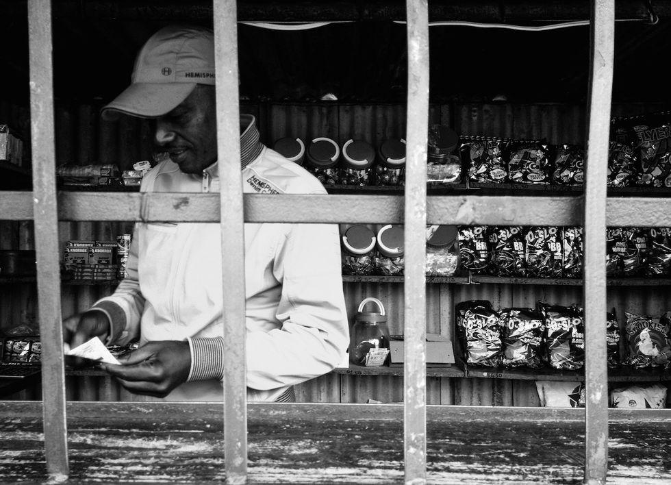 Corner store in Estcourt, KwaZulu Natal in 2018. Subject: Fanele Manyoni.