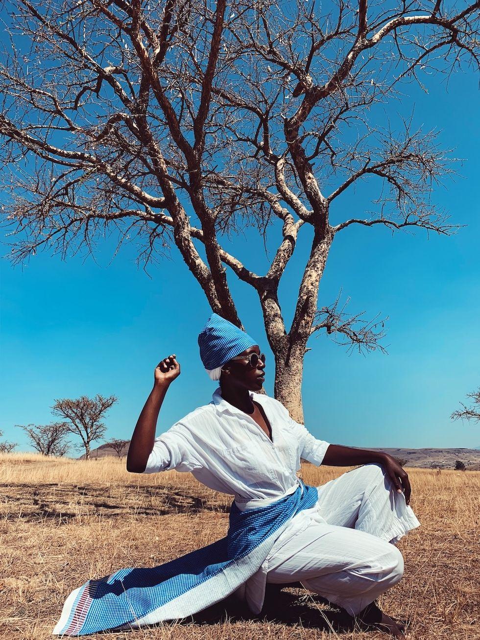 The photographer's cousin, Ayanda Seoka in Estcourt, KwaZulu Natal in 2020.