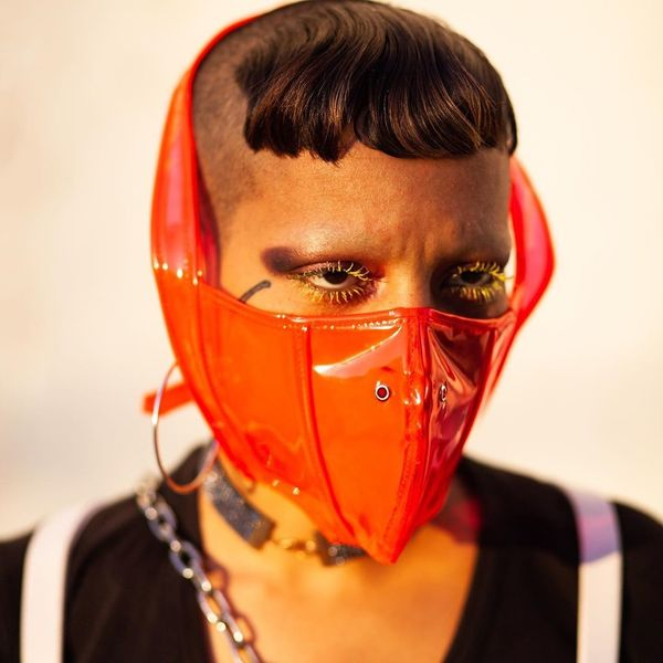 The Queer NYC Designer Making PVC Masks for Hospital Workers