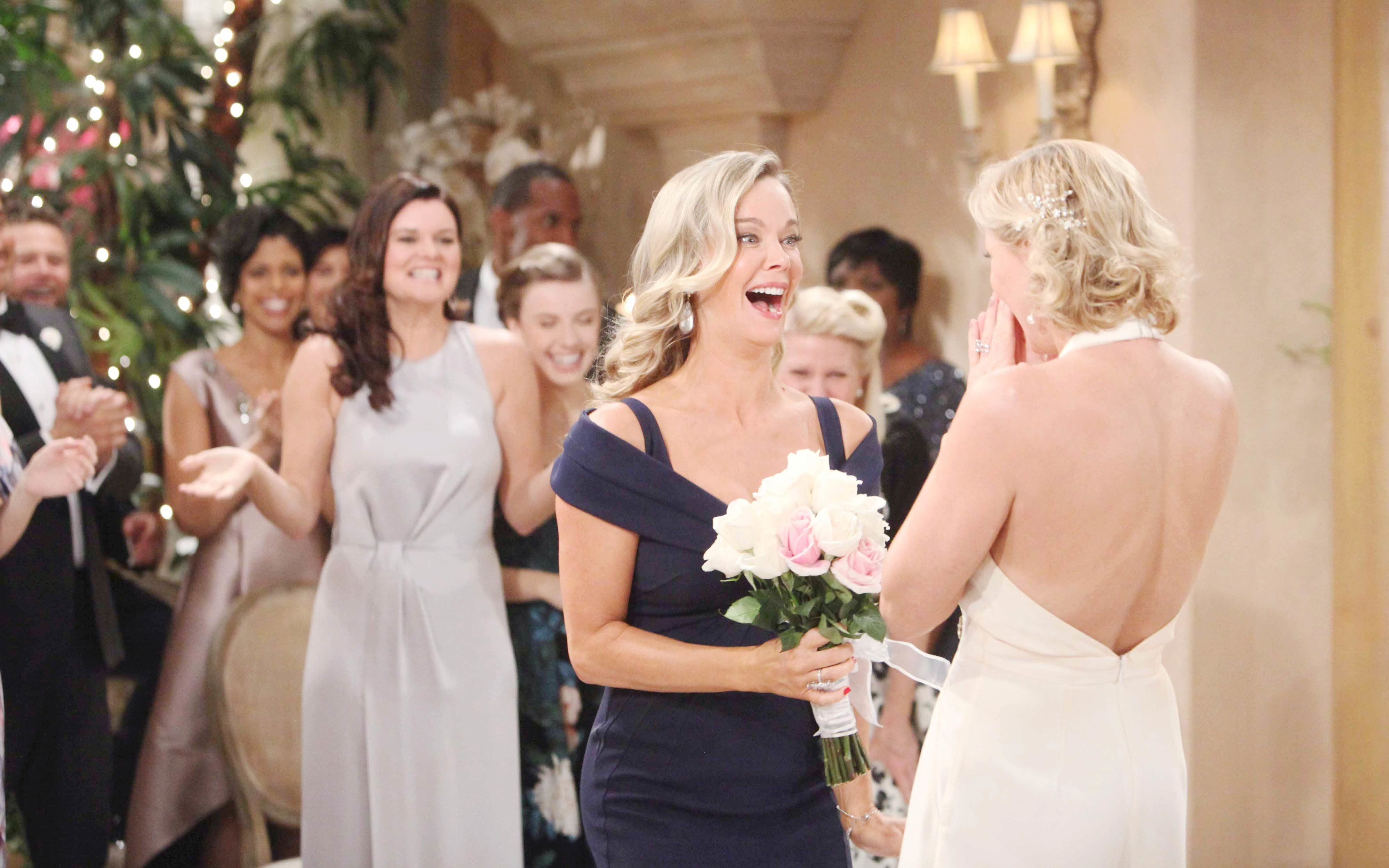 Jennifer Gareis in a wedding scene of The Bold and the Beautiful.
