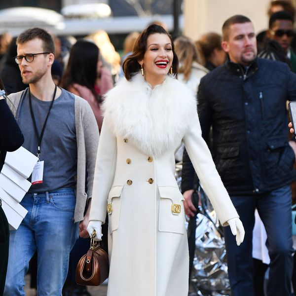 Bella Hadid Serves Meredith Blake Outside Lanvin