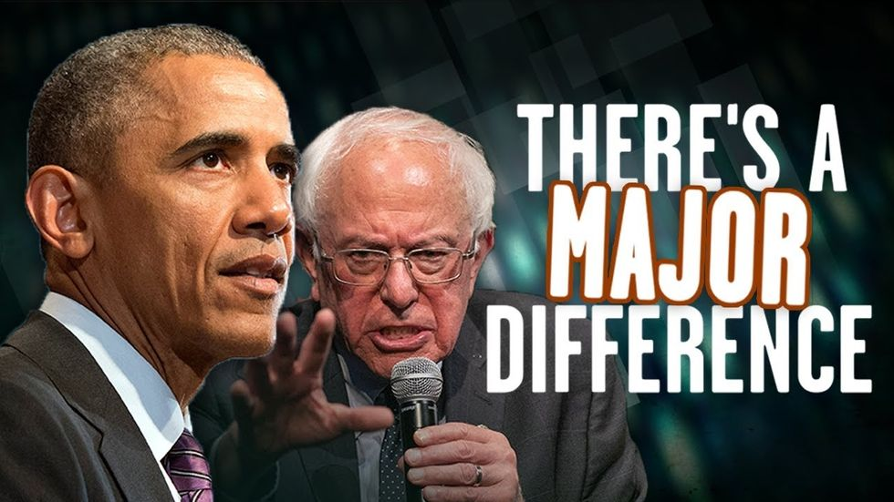 image for BERNIE VS. BARACK: Both are radicals, but there's a HUGE difference