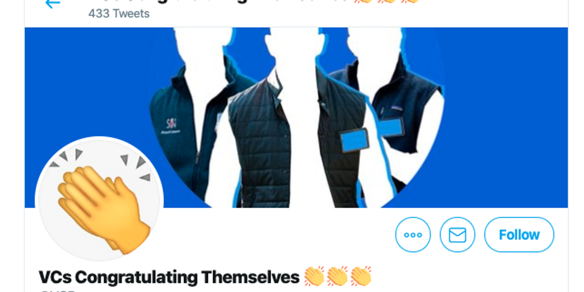 A parody Twitter account hits a nerve with Silicon Valley VCs