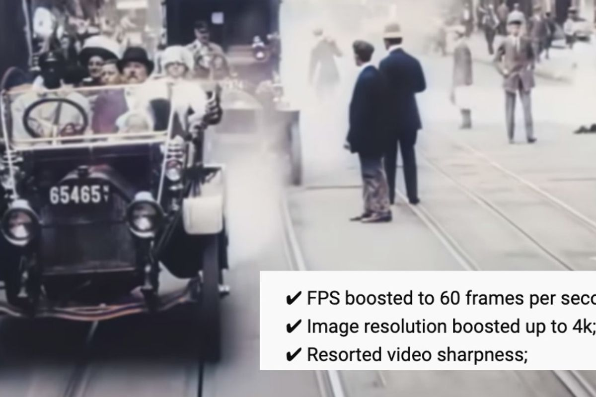 A 109-year-old film of New York City was digitally enhanced and it looks so cool