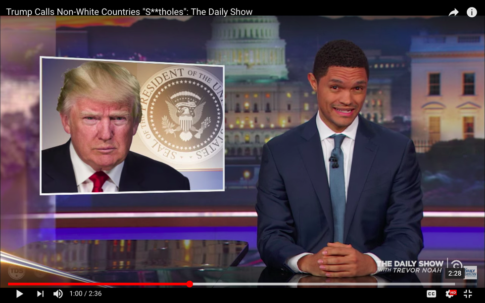 #EndorseThis: Trevor Noah On Trump Sneering At 'Shithole' Countries