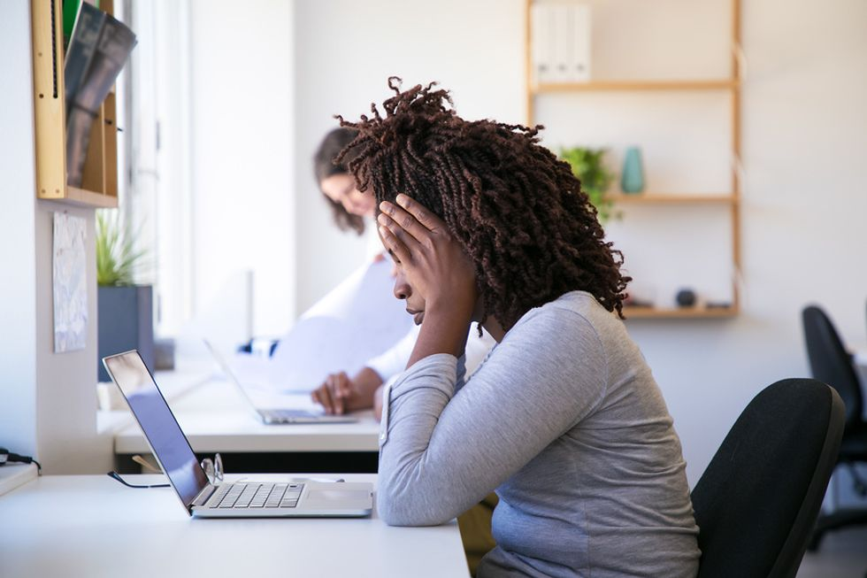 Overworked woman needs to find a better work-life balance