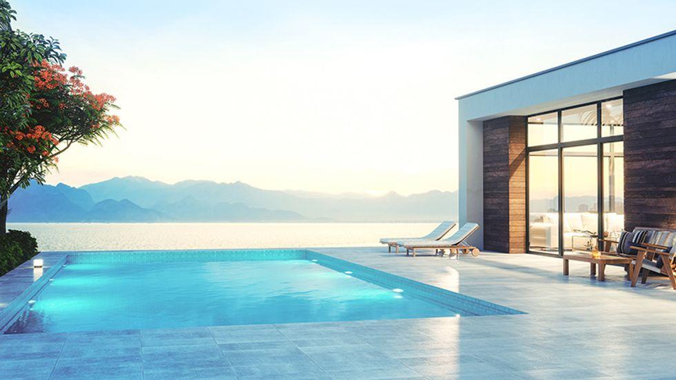Infiniti pool of a luxury hotel.
