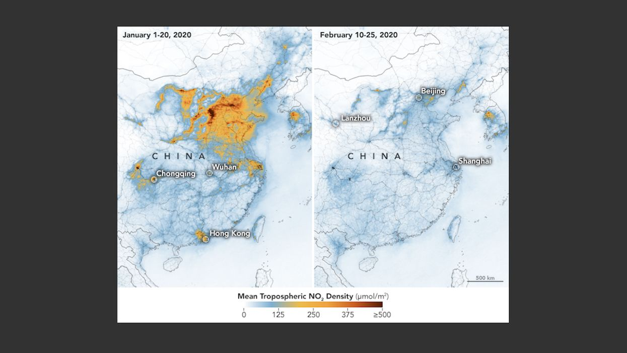 Coronavirus Shutdown Leads to 'Dramatic' Decline in Chinese Pollution Levels