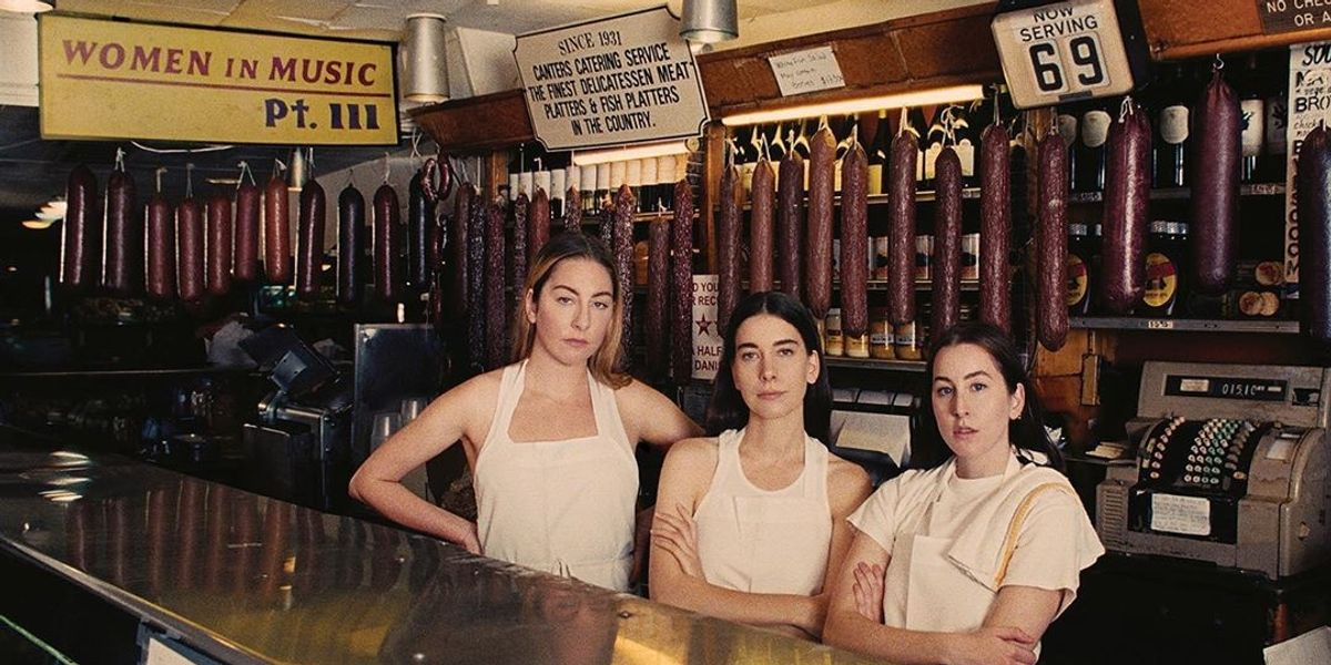 HAIM's New Album Cover Is a Literal Serve