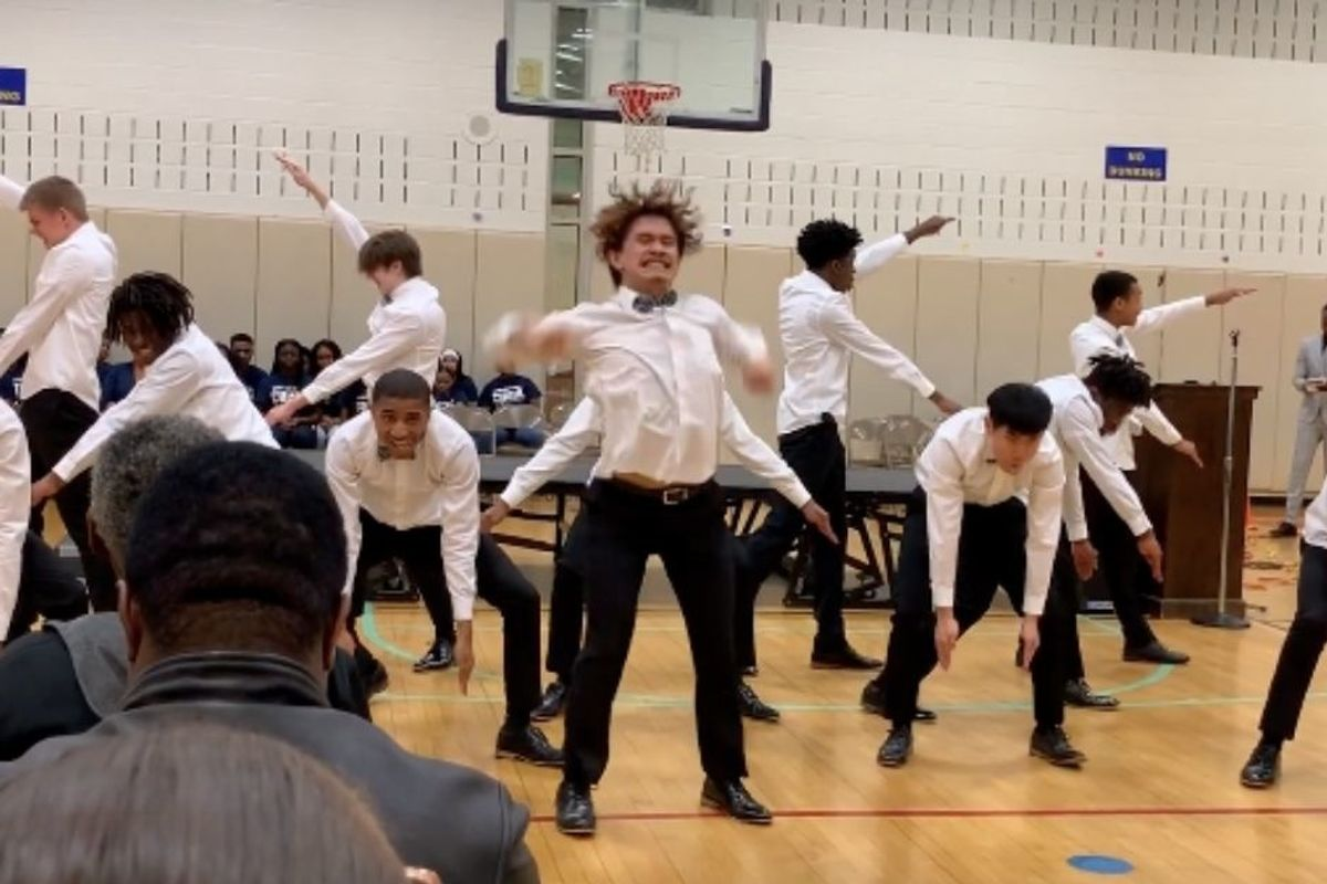 Maryland high schoolers' Black History Month step routine will blow your socks off