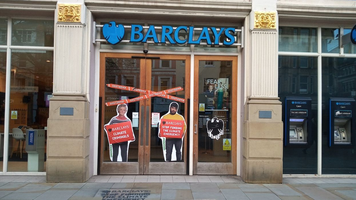 Greenpeace Activists Urge Barclays to 'Stop Funding the Climate Emergency,' Shut Down Branches Across UK