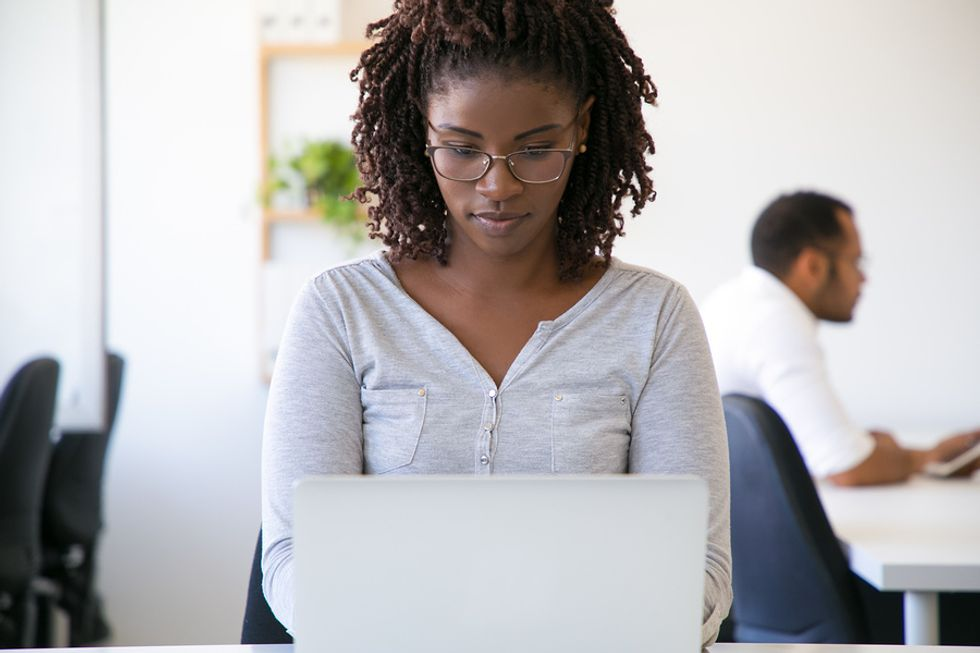 Woman working in IT