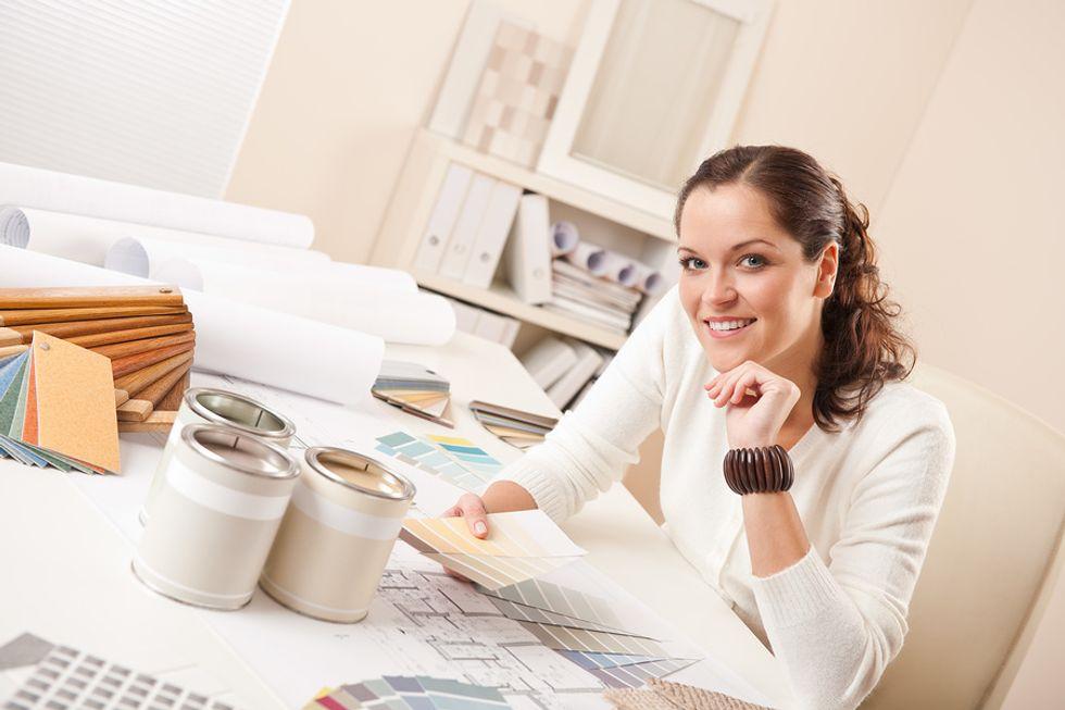 Woman chooses interior design as a career