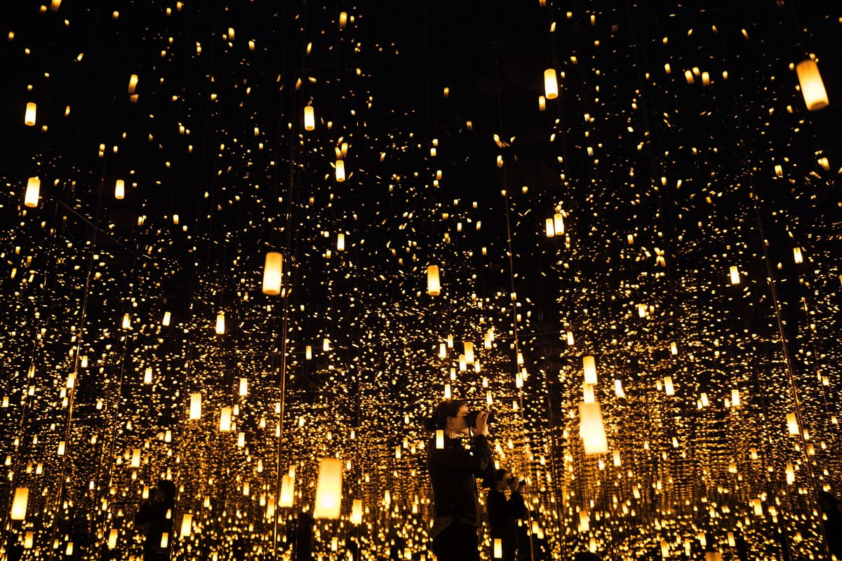 Step Into Yayoi Kusama's Infinity Rooms From Home