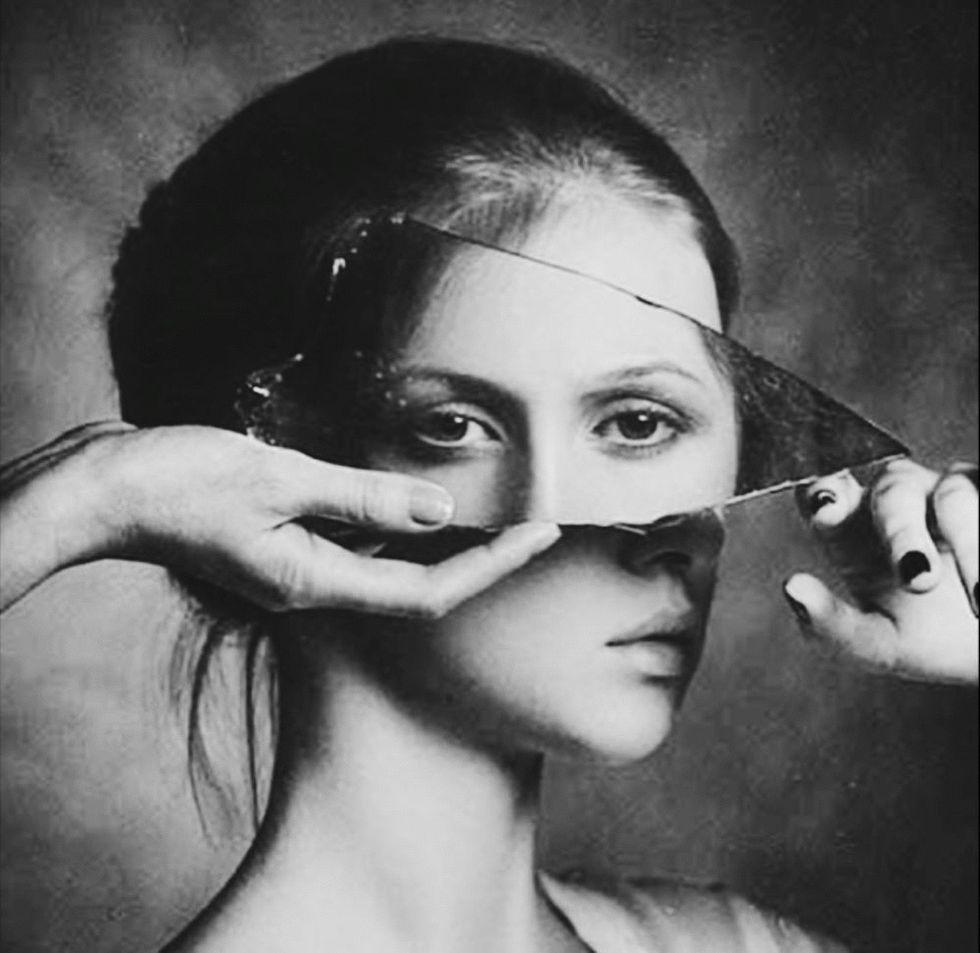 mirror, woman