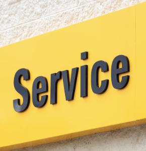 Penske service sign