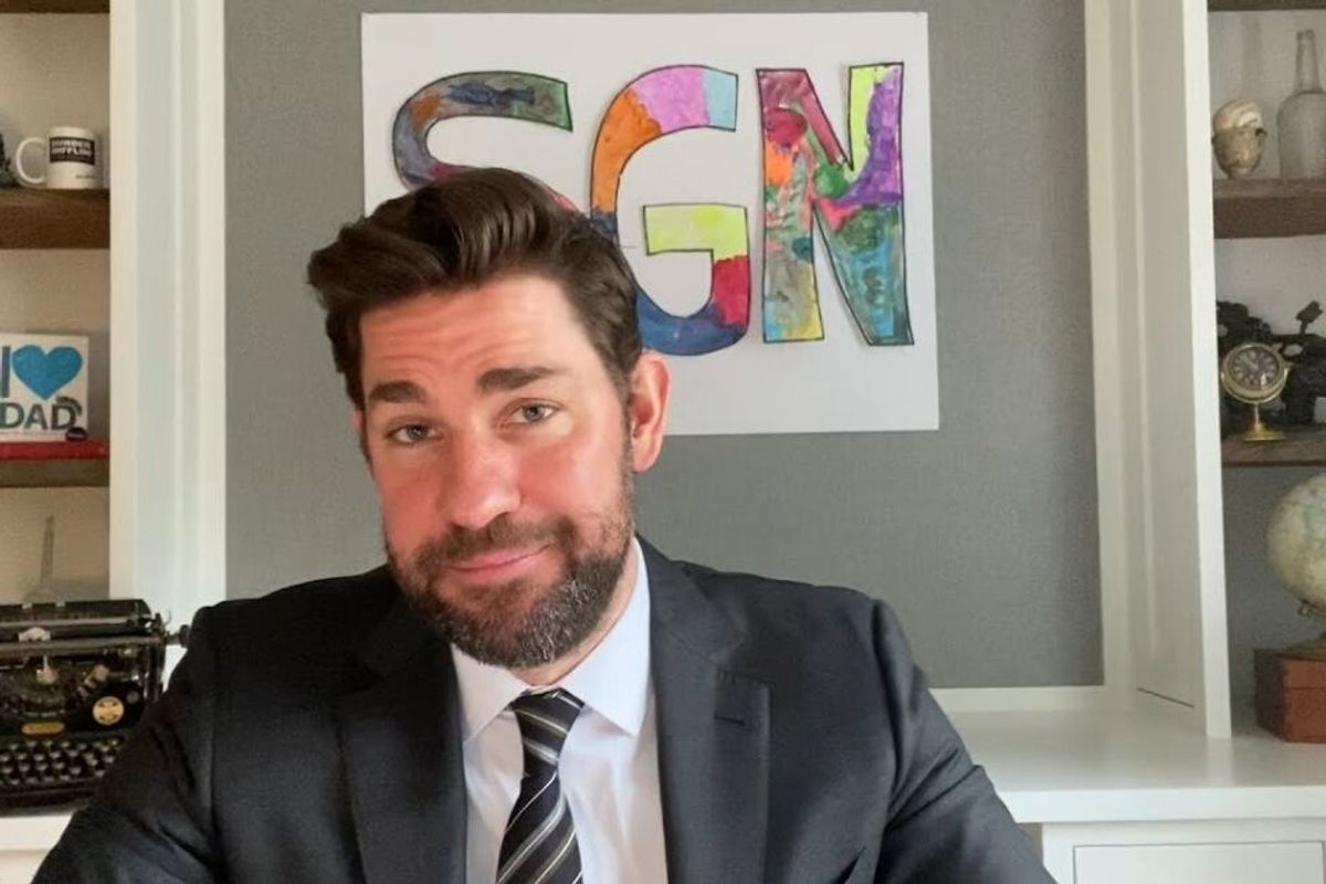 John Krasinski just launched a 'Some Good News' TV show from his own home office
