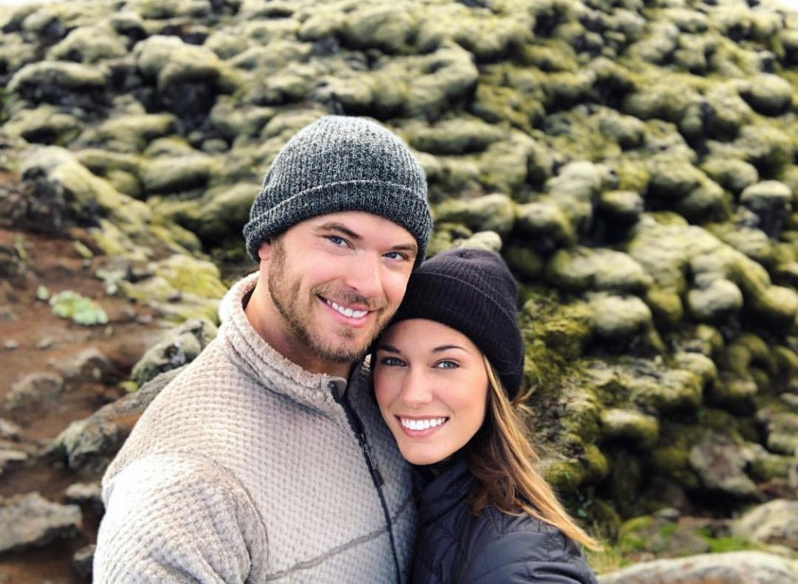 Actor Kellan Lutz and his wife.