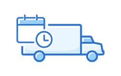 truck with calendar icon