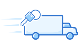 truck with keys icon