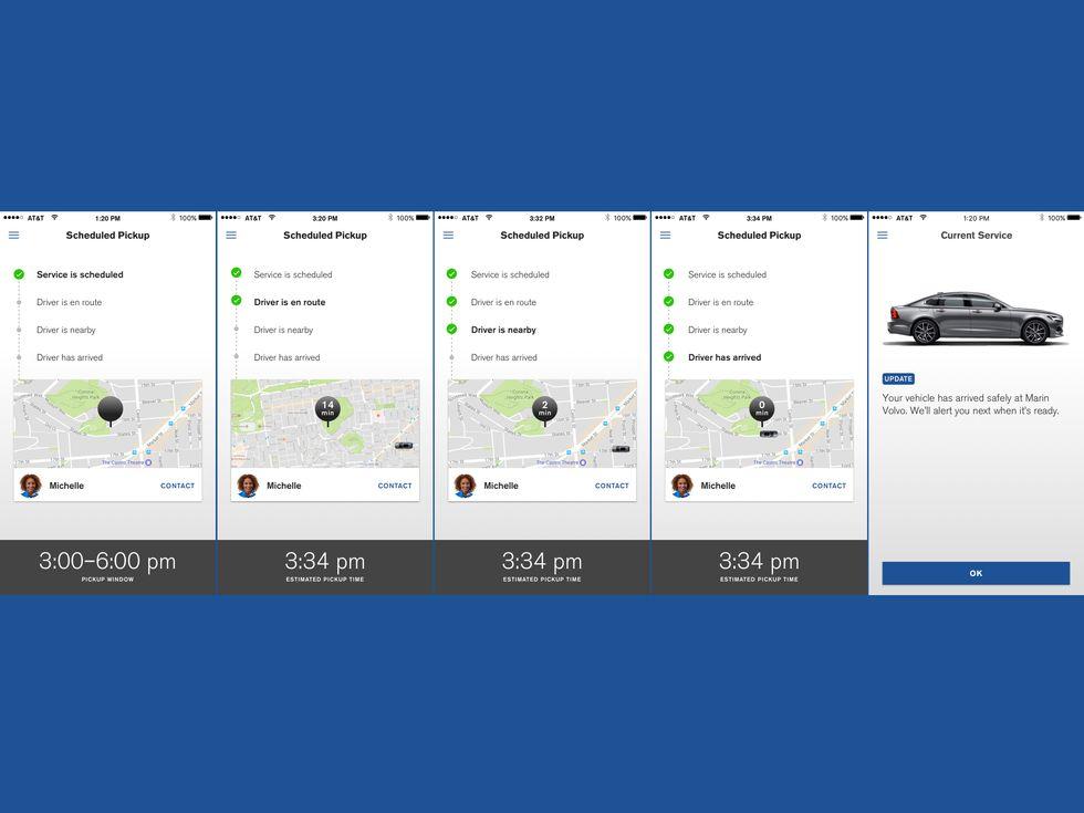Volvo Valet app